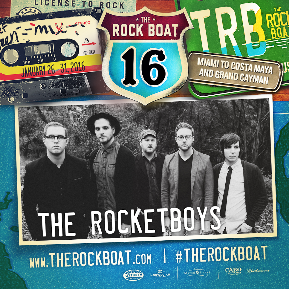The Rocketboys Rock Boat